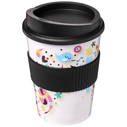 Coffee to go beker 300 ml met grip enkelwandig